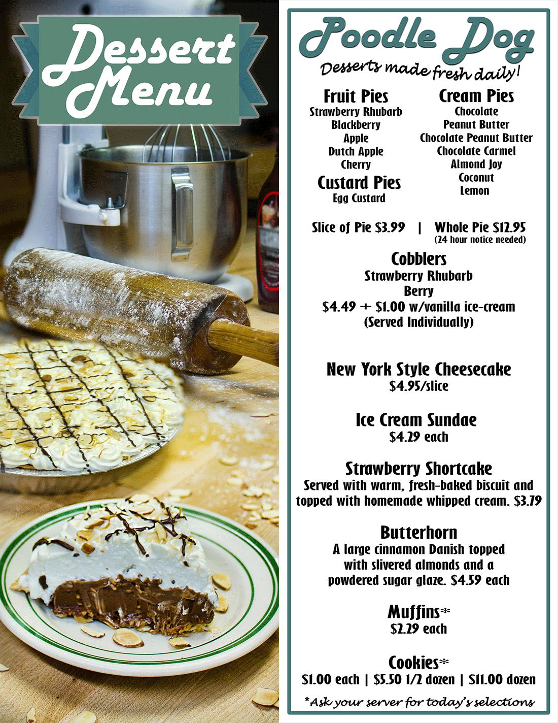 Dessert Menu - The Poo...